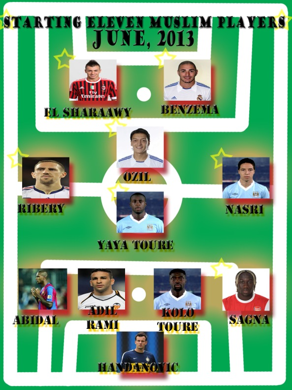 Starting Eleven muslim footballer june 2013
